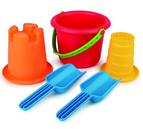 Hape Sand Toys 5-in-1 Beach Set Toys, Multicolor