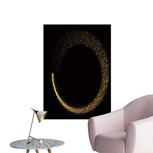 SeptSonne Vinyl Wall Stickers Glitter Star dust Circle Bokeh on Black backgroun Perfectly Decorated,16