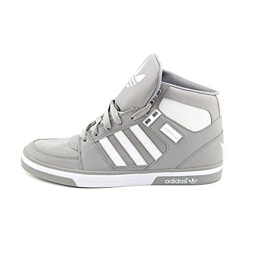 Adidas Hard Court Hi II Mens Size 10 Gray Leather Basketball Shoes UK 9.5