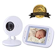 EtekStorm 3.5'' Video Baby Monitor(2018 Newest UPGRADED) With Digital Camera, Two Way Talk, Infrared Night Vision, 4 Lullabies, Temperature Monitoring, High Capacity Battery and Long Range.