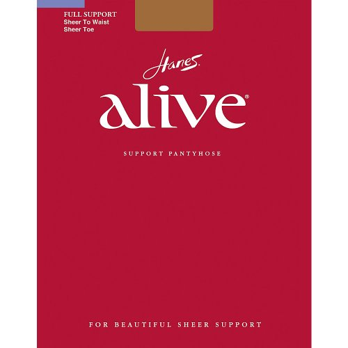 Hanes Women`s Set of 3 Alive Sheer to Waist Pantyhose - Best-Seller! D, South Pacific