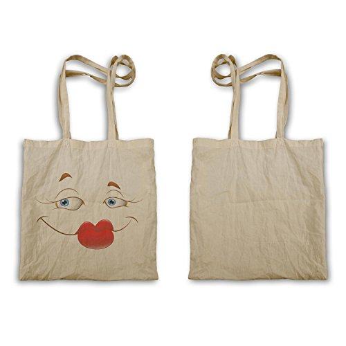 Novità A240r Bag Divertente Tote Face Face Smiley Vintage 0qE66U