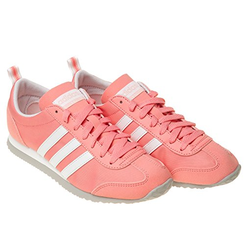 Adidas Vs Jog W - Aw4775 - Couleur Blanc-gris-rose - Taille: 7.0
