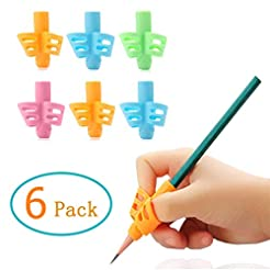 Pencil Grips - 6 Pack Pencil Grips for K...