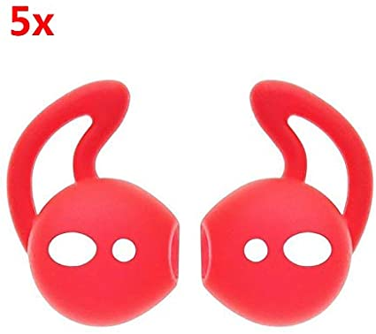 Redcolourful 1//3//5 Pairs Ear Hook Earbud Headset Cover Holder for Apple AirPods Sport Accessories red 1 Pair