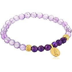 Satya Jewelry Amethyst Gold Stretch Bracelet