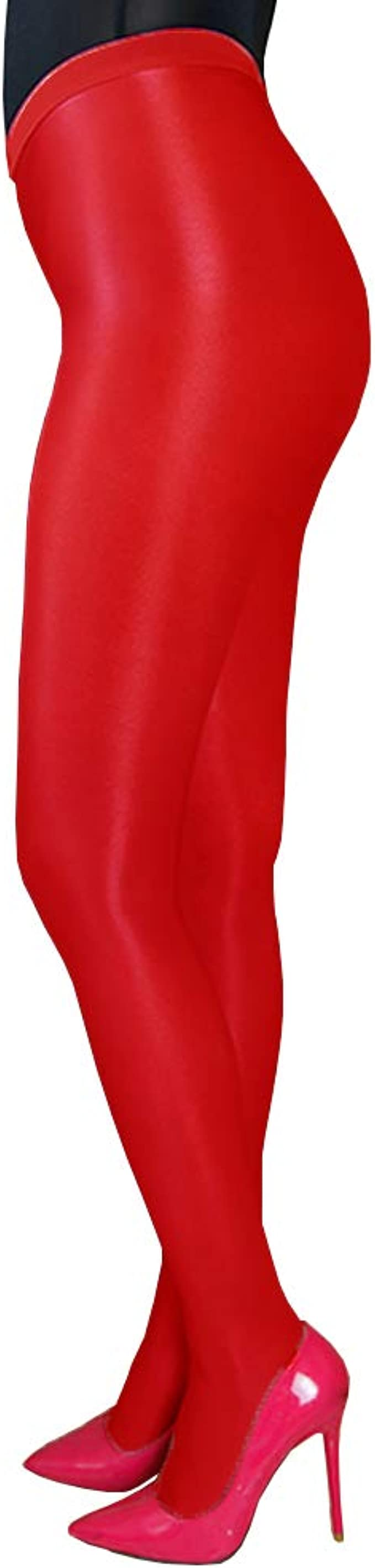 Plus 200lbs 70D Ultra Glossy Shiny Pantyhose Neon effect Dance Ballet Tights