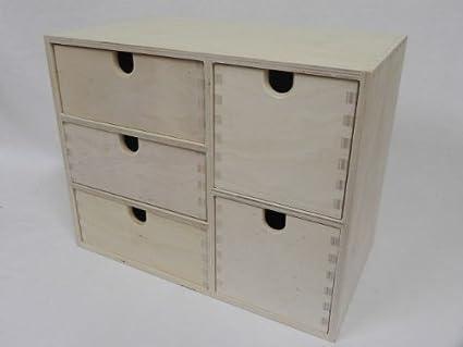 Credenza Con Decoupage : Legno grezzo scatola in per stockaggio credenza cassa con