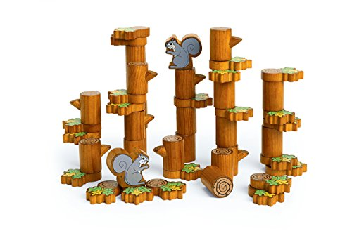 Excellerations SQUIRLOG Tree and Squirrel Blocks 6 (Pack of 46)