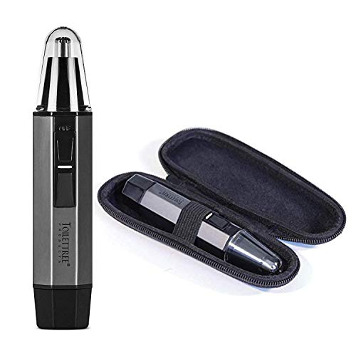 ToiletTree Products Water Resistant Heavy Duty Steel Nose Trimmer with LED Light and Travel Case