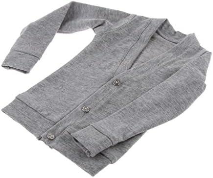 Dovewill ドール用  ファッション  ボタン付き  セーター  服   BJDSD人形対応  全2サイズ - 1/3