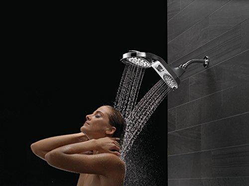 Delta Faucet HydroRain 5-Spray Touch-Clean 2-in-1 Rain Shower Head, Chrome 58580-PK