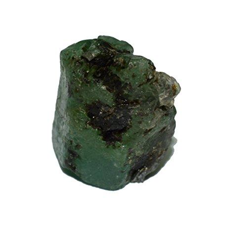 Emerald natural rough gemstone crystal 22.89 carat