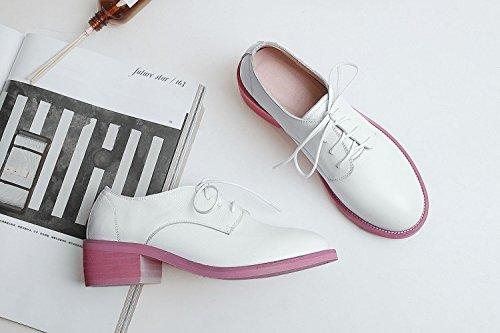 hexiajia, Damen Bootsschuhe Weiß