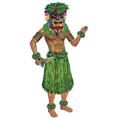 Jointed Tiki Man Party Accessory (1 count) (1/Pkg) -