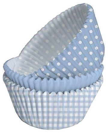 Baby Blau Cupcake Fällen Amazon De Küche Haushalt