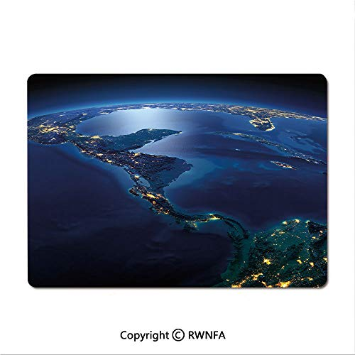 Medium Mouse pad,Earth View at Night from Space Atmosphere Stars Fantastic Cosmic Galaxy Nebula Decorative(9.8