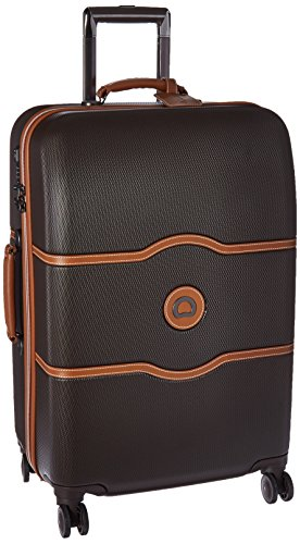 DELSEY Paris Luggage Chatelet Hard+ Medium Checked Spinner Suitcase Hardside with Lock, - Deluxe Chalet