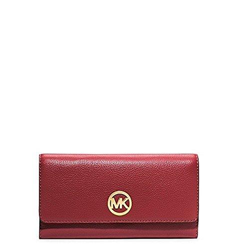 Michael Kors Tri Fold Carryall Wallet Red