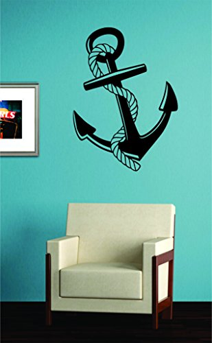 Cheap  Anchor with Rope Decal Sticker Wall Vinyl Art Decor Ocean Boat