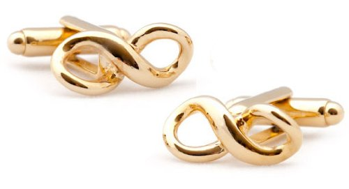 Cuff-Daddy Gold-Plated Infinity Cufflinks