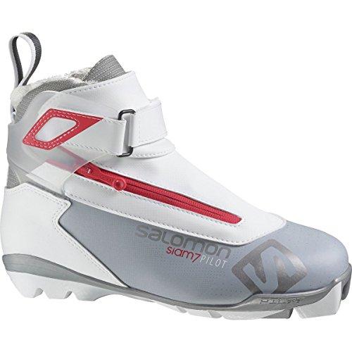 Salomon Siam 7 SNS Pilot CF Ski Boot - Women's Light Grey/Red, US 6.5/UK 5.0 -
