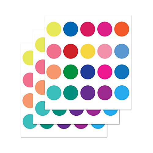 PARLAIM Rainbow Multi Size Polka Dot Wall Decals, Peel and Stick Wall Stickers Perfect for Kids Room,Living Room,Bedroom Multicolor (2 inch x 60 Circles)