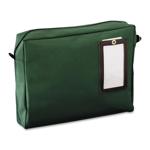 Wholesale CASE of 10 - MMF Industries Nylon Mail Bag Transit Mailers-Gusseted Reusable Mailer, Nylon, 18''x4''x14'', Green by MMF