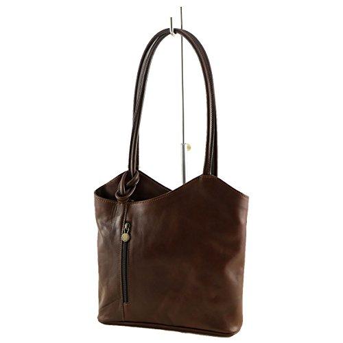 Leder Taschen Damen - 1036 Dunkelbraun - Echtes Leder Taschen - Mega Tuscany