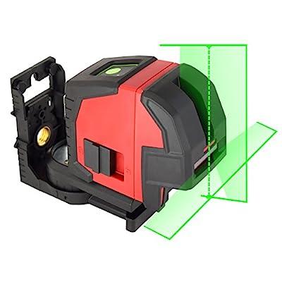 EnnoLogic eV164P Green Laser Level Self Leveling Cross Line Laser with Horizontal Vertical Lines and Plumb Dots