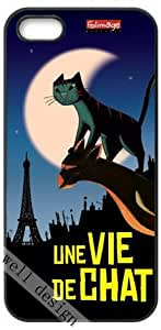 Une vie de chat (Academy Awards Best Animated Feature Film) Oscar Cartoon movie HD image case cover for iphone 5 black A Nice Present