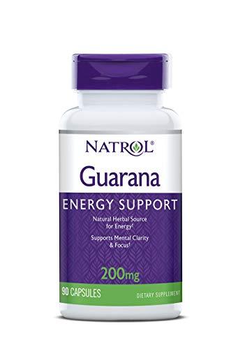 Natrol Guarana 200mg Capsules, - 200 Pills Mg 90