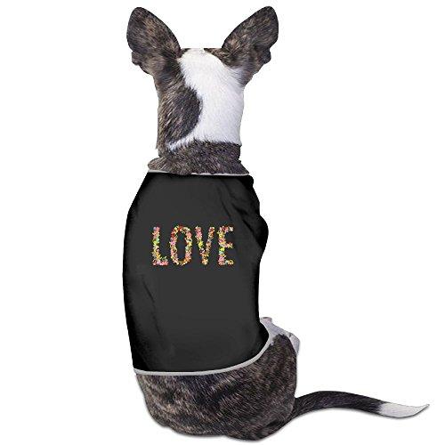 LOVE New Fashion CutePet Puppy Shirt Clothes Dress Plain Sleeveless Costumes Best Holiday Gift M Black