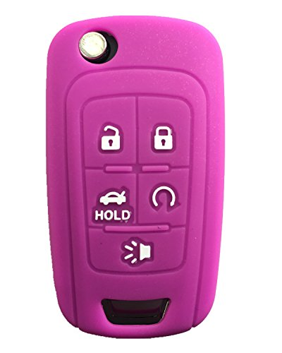 Rpkey Silicone Keyless Entry Remote Control Key Fob Cover Case protector For Chevrolet Camaro Cruze Limited Equinox Impala Limited Malibu Malibu Limited Sonic(Violet) OHT01060512 13504199 13500221