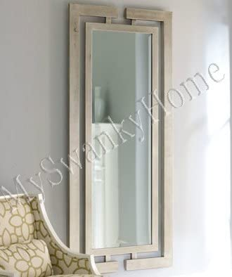 Amazon Com Extra Long Contemporary Silver Wall Mirror Full Length Modern Home Kitchen