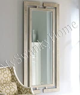 extra long silver wall mirror full length modern
