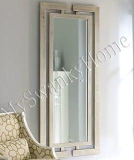 Amazon.com: XL Long Full Length Silver Wall Floor Mirror Wood Extra ...