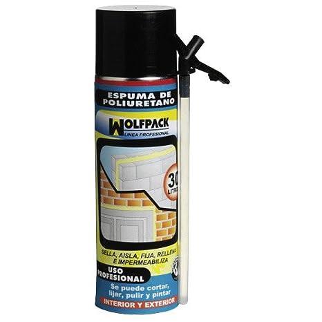 Wolfpack 14010154 - Espuma poliuretano con cánula, 500 ml: Amazon.es: Bricolaje y herramientas