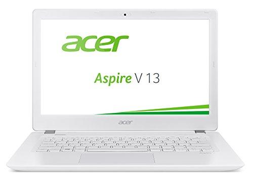 Acer Aspire V 13 (V3-372-518V) 33,8 cm (13,3 Zoll Full HD IPS) Notebook (Intel Core i5-6267U, 8GB, 256GB SSD, Intel Iris Graphics 550, Win 10 Home) weiß