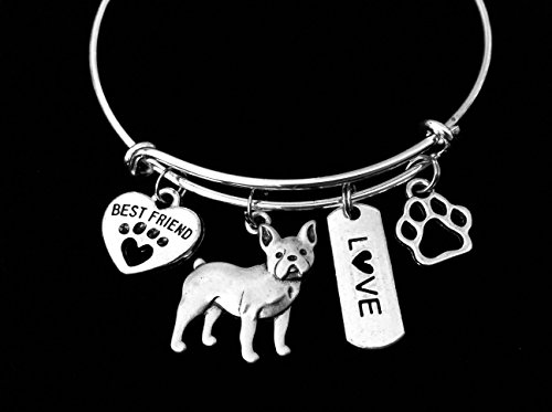 Amazon Com French Bulldog Dog Expandable Charm Bracelet Silver