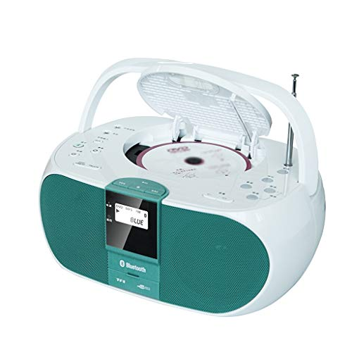Haodan electronics Bluetooth/CD/DVD/USB/TF Card MP3 Player CD Player Home Speaker Prenatal Education Machine (Color : Green)