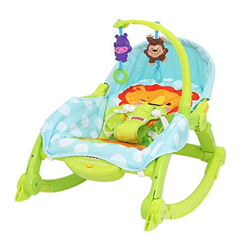 BEYHOOH Baby Rocking Chair, Foldable Baby Rocker Multifunctional Music Shake Baby Comfort Swing Chair Baby Recliner