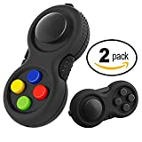 Duddy-cam Fidget Pads - Perfect for Skin Picking - Anxiety and Stress Relief - Fidget Toy - Children and Adults (1 Black + 1 Colorful)
