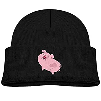 Amazon.com: Kids Knitted Beanies Hat Pink Pig Winter Hat