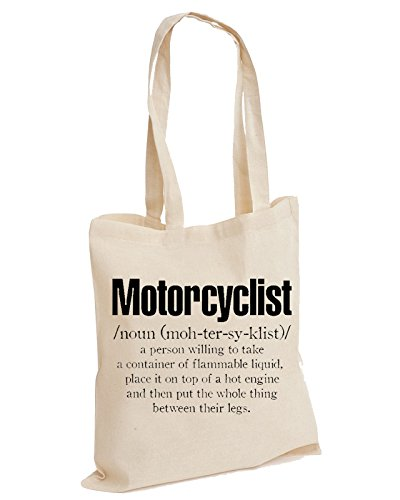 Motorcyclist Rider Unisex Definition Tote Cotton Bag Cycle Motorbike Natural Biker xrqxBw7