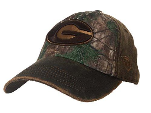 キャプテンブライストレンジャーメディックGeorgia Bulldogs牽引Camo Driftwood調節可能なストラップバックリラックスフィット帽子キャップ