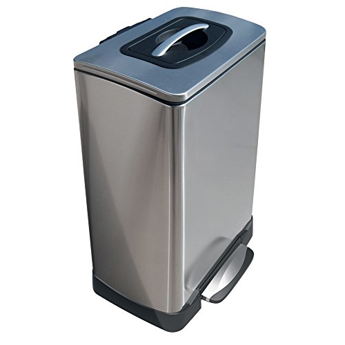 Household Essentials Trash Krusher Manual Trash Compactor, 40 L, Stainless Steel by Household Essentials