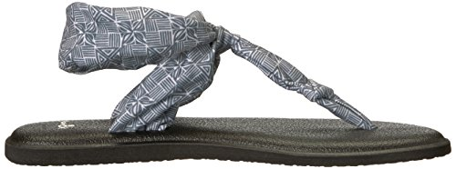Grey Hazy UK Tiki Black Yoga Sanuk Flop Women's Sling Tile Flip 4 Palms Ella HUTSq