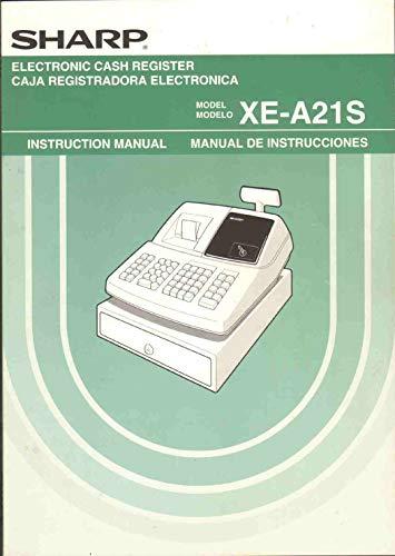 EGISTER Instruction Manual English Spanish (Sharp Electronic Cash Register Manual)