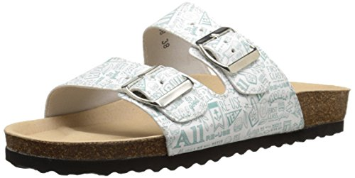 Re-Sole Womens Buckle Sandal Buckle Sandal Size: Lettering